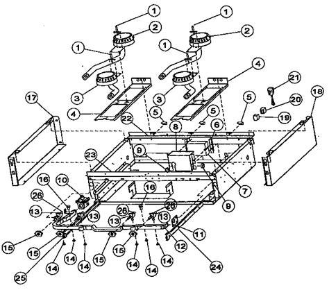 viking range parts diagram burner box sub assembly diagram parts list for model