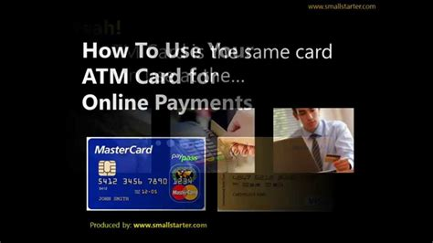 how to make atm card how to use your atm card for payments