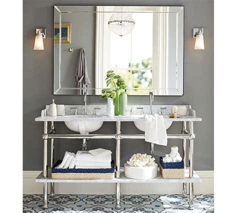 pottery barn bathroom mirror delectable 10 bathroom mirrors double wide decorating