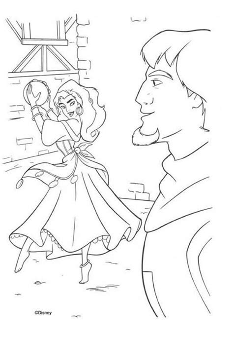 disney esmeralda coloring page the hunchback of notre dame coloring book pages