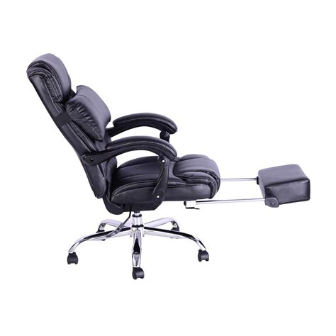 reclining executive office chair homcom executive reclining office chair from aosom ca mh