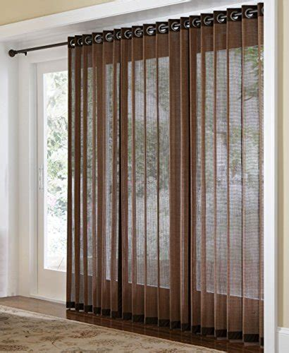 grommet top curtains for sliding glass doors bamboo blinds store