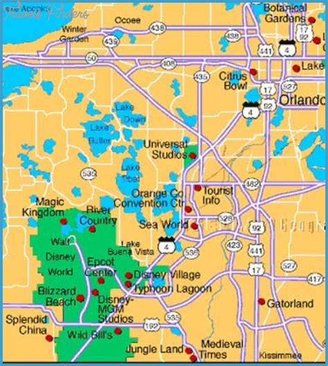 map of orlando fl orlando map tourist attractions travelsfinders