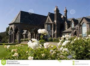 Queen Anne Victorian Large Victorian Mansion In Nap Royalty Free Stock Image