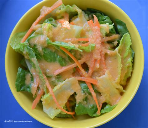 japanese onion ginger and carrot salad dressing japanese salad ginskitchen