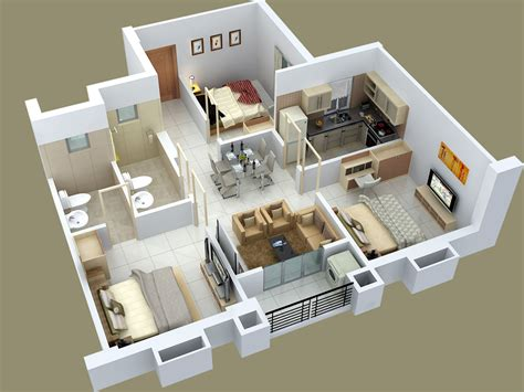3 Bedroom Designs 25 Three Bedroom House Apartment Floor Plans