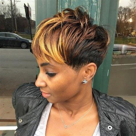 short cut with feathers african americans styles 60 great short hairstyles for black women blonde bangs