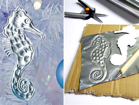 diy aluminum embossed christmas ornaments for an under the