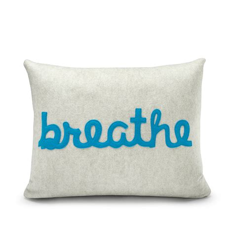 Alexandra Ferguson Pillows by Alexandra Ferguson Breathe Pillow Creative Gifts For All