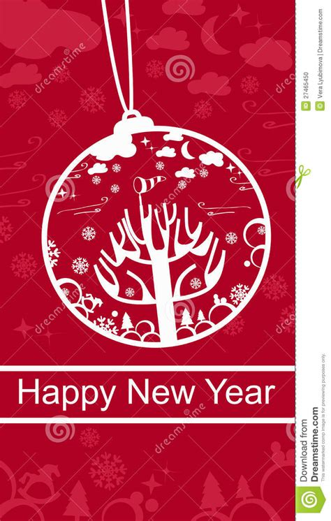 happy new year greeting card happy new year greeting card stock photo image 27465450