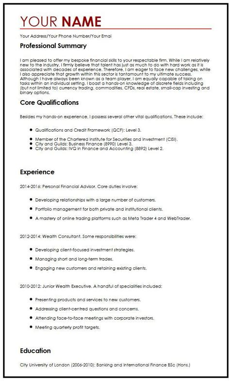 Trader Sle Resume by Myperfectcv Phone Number 28 Images Scaffold Builder Cv Sle Myperfectcv Fx Trader Cv Sle