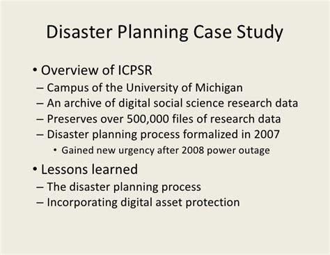 preservation section disaster planning presentation saa 2010