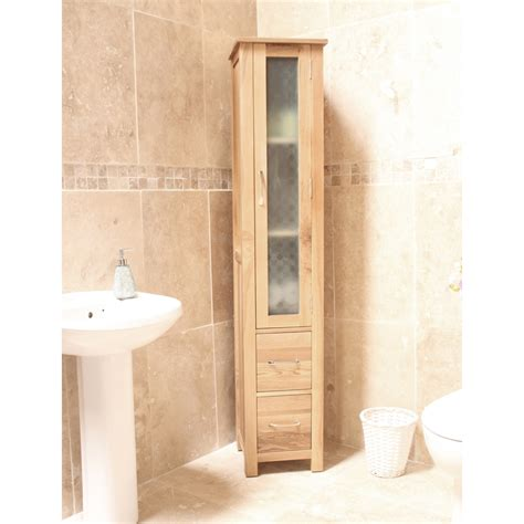 Solid Oak Bathroom Furniture Mobel Bathroom Cabinet Storage Cupboard Solid Oak Bathroom Furniture Ebay