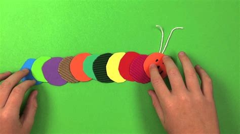 simple craft how to make a caterpillar simple preschool arts and