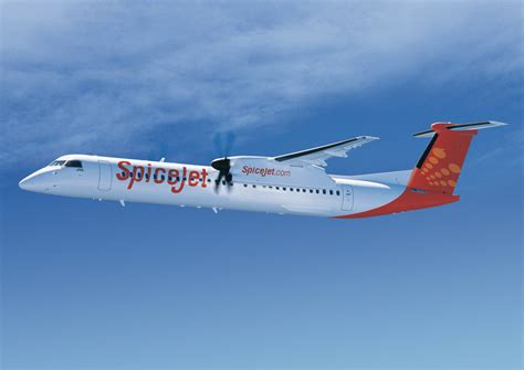 spicejet takes delivery    seat bombardier dash