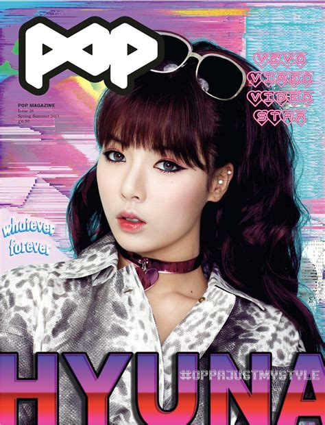 Is That You Pop Magazine Fashion Issue by Pop Features Moffy And Hyuna On Its Summer 2013 Covers