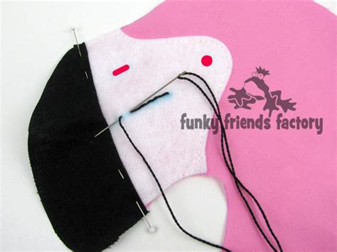 flamingo beak template flamingo sewing pattern is finally finished funky