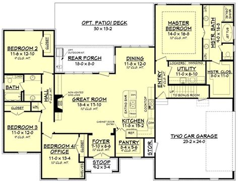 4 bedroom floor plans with bonus room the 25 best four bedroom house plans ideas on pinterest