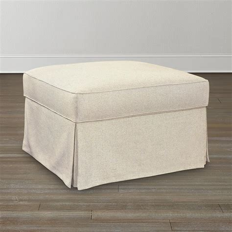 How To Make An Ottoman Slipcover Square Ottoman Slipcover Home Furniture Design