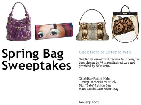 W Magazine Saks Designer Purse Giveaway by W Magazine X Saks Bag Sweepstakes