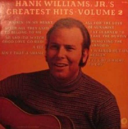 Hank Williams Jr Criminal Record Hank Williams Jr Vinyl Record Albums