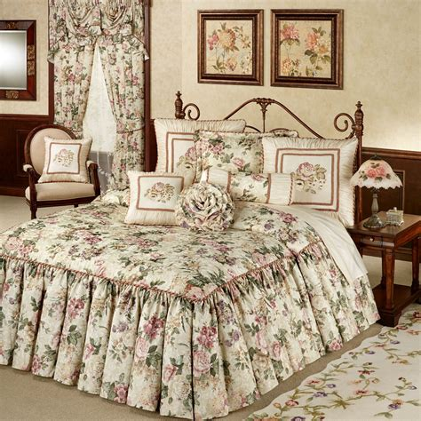 floral bedspreads and comforters floral jubilee light cream oversized bedspread