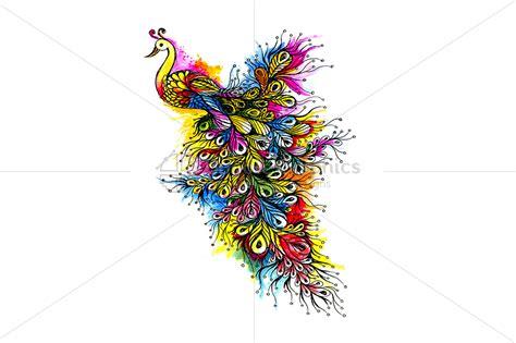 Handmade Graphics - peacock handmade ink graphics bundle graphics