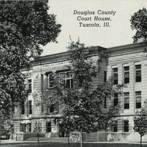 douglas county court house tuscola il postcards