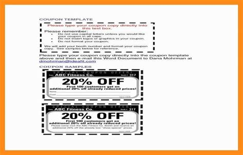 10 11 Christmas Coupon Template Word Lascazuelasphilly Com Business Card Coupon Template