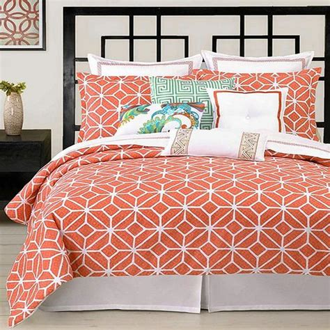 coral queen comforter trina turk trellis coral queen duvet cover set ebay