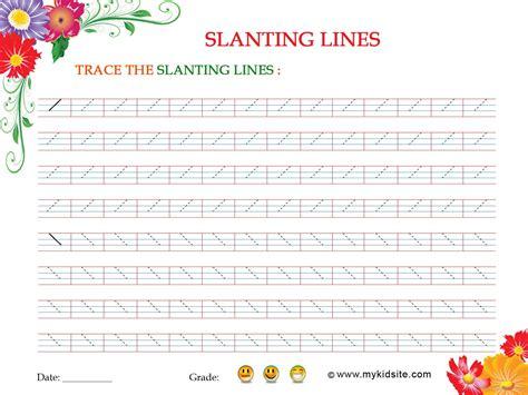 pattern writing slanting lines slanting lines worksheet
