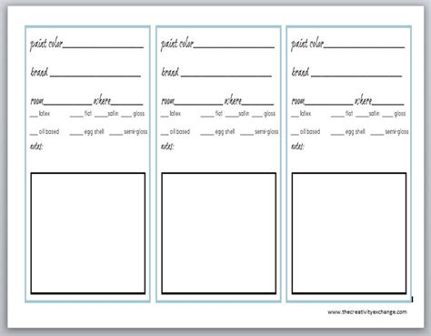 printable label sheets printable labels for paint cans and color binder sheets