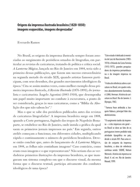 Everardo Ramos - Origens Da Imprensa Ilustrada Brasileira