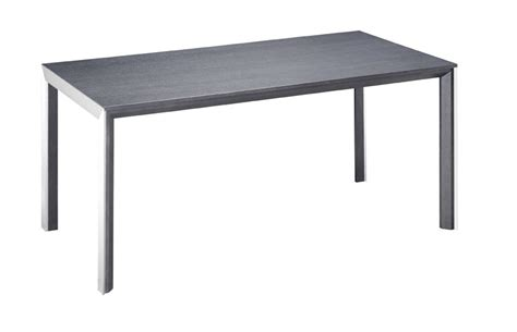 caesar table with brushed steel accents santa