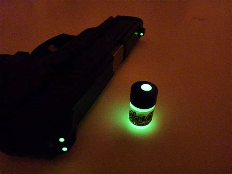 glow in the paint for gun sights check this out glow in the gun sights paint