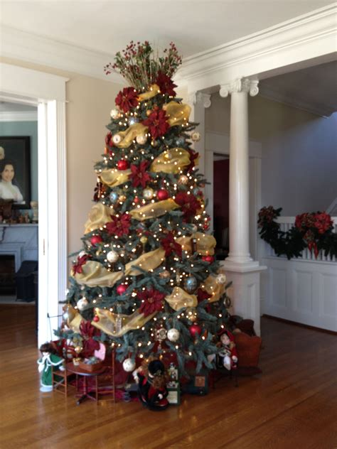 my southern living christmas main tree with clock