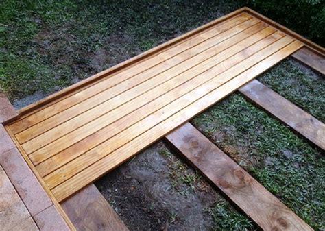 How to build a ground level deck home design ideas