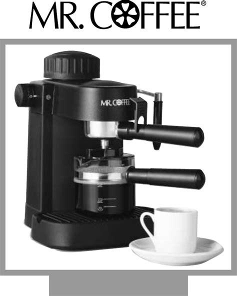 Coffee Maker Manual mr coffee espresso maker ecm10 user guide manualsonline