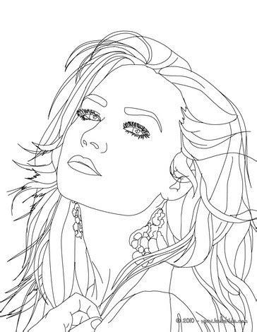 demi lovato close up coloring pages hellokids com