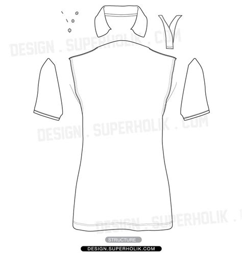 polo shirt template vector hellovector