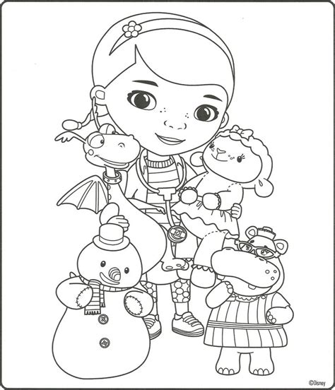 Doc Mcstuffins Coloring Page Maddie Abbie Pinterest Doc Mcstuffins Coloring Pages To Print