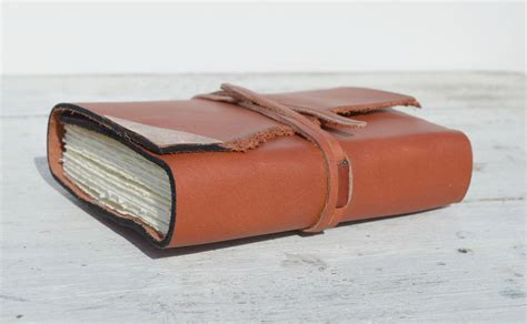 Handmade Leather Bound Journal - crafted handmade leather bound journal pressed