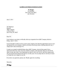 Official Letter Of Thanks 9 Thank You Resignation Letters Free Sle Exle