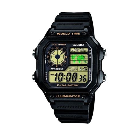 Jam Tangan Qnq Ae 1200 Black jual casio illuminator ae 1200wh 1bvdf jam tangan pria