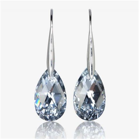 godava real sterling silver earrings made with swarovski