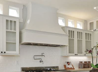 marvelous White Cabinet Kitchen Designs #1: artisan-wood-hood-painted-wood-white.jpg