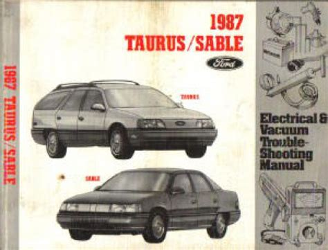 service and repair manuals 1987 ford taurus electronic toll collection used 1987 ford taurus mercury sable electrical vacuum troubleshooting manual