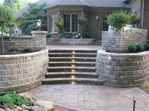 landscaping blocks ideas for retaining walls with steps