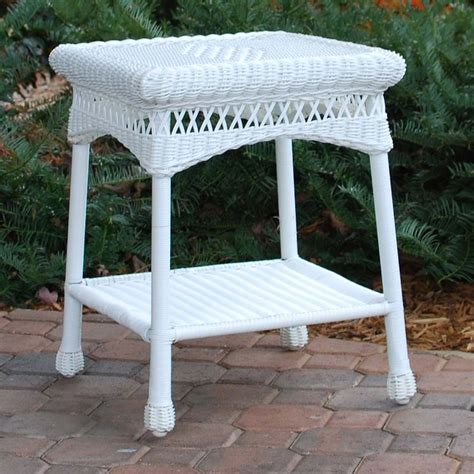 Wicker Side Table Tortuga Outdoor Portside Wicker Side Table Wickercentral