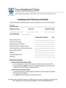 employee exit template word employee exit clearance checklist 2 free templates in